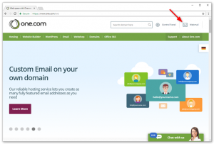 How to change the password in one.com Webmail